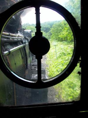 釜石線のD51からの展望