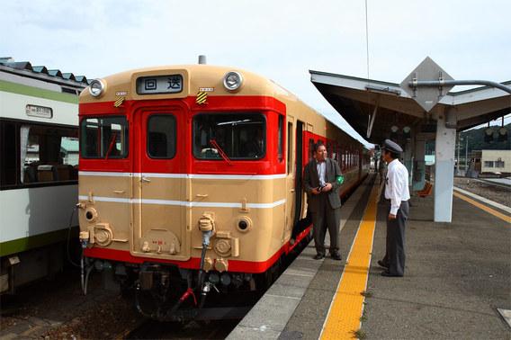 釜石に到着した撮影列車