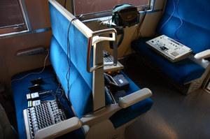 客車内に設置された機材