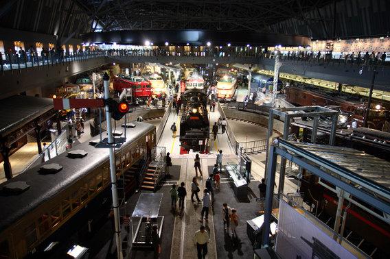 開館した鉄道博物館のヒストリーゾーン